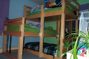 Triple Bunk Bed Plans 640 x 425