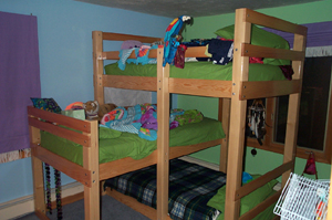 bunk bed plans triple
